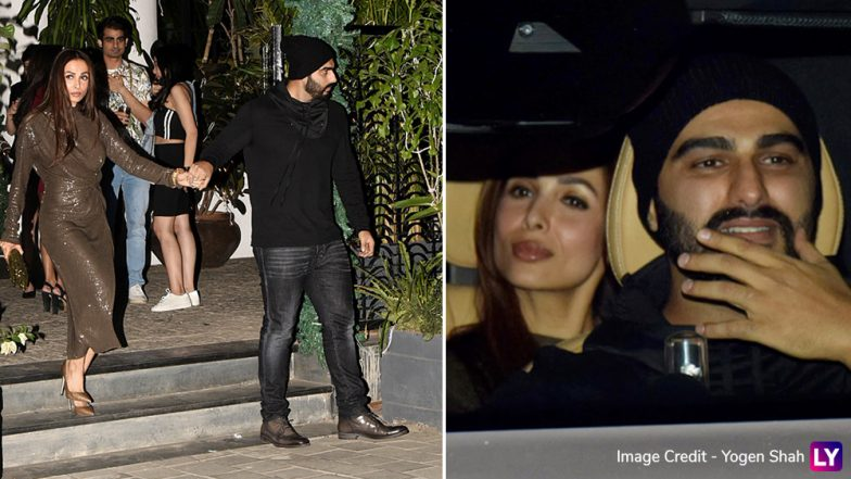 Malaika Arora Looks Smokin' HOT as She Accompanies Boyfriend Arjun Kapoor for Sanjay Kapoor's New Year Bash (View Pics)