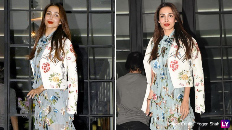 Malaika Arora Looks Ravishing in a Layered Gown as She Goes on a Dinner Date With Family (View Pics)