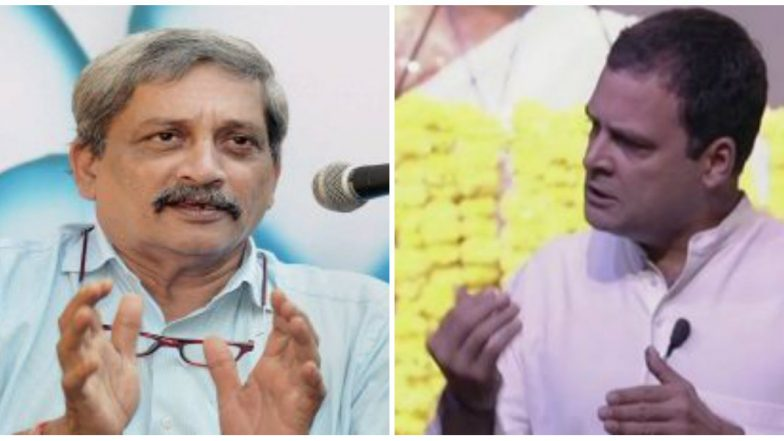Rahul Gandhi Meets Goa CM Manohar Parrikar, Enquires About His Health and Raises Rafale Audio Tape Issue