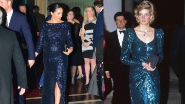Meghan Markle Apes Princess Diana's Look For Her Cirque Du Soleil Appearance And Floors Us With Her Panache!