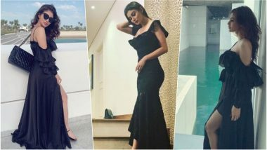 Mouni Roy is a Beauty in Black as She Welcomes New Year 2019 with Her Friends in Dubai, See Sexy Pictures