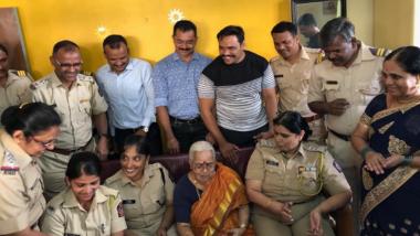 Mumbai Police Celebrates Birthday of 85-Year-Old Matunga Woman, Who Lives Alone, Every Year