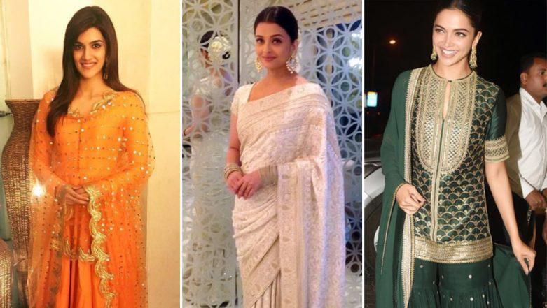 Republic Day 2019: Deepika Padukone, Aishwarya Rai Bachchan and Kriti Sanon Show You How To Nail Outfits in Tricolour
