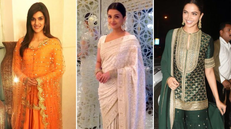Republic Day 2019: Deepika Padukone, Aishwarya Rai Bachchan and Kriti Sanon Show You How To Nail Outfits in Tricolour