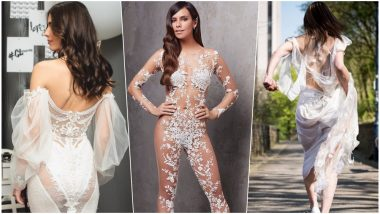 Naked Wedding Gowns Are in Vogue For All Bold Brides Out There! Check Quirkiest Wedding Trend 2019 in Pics