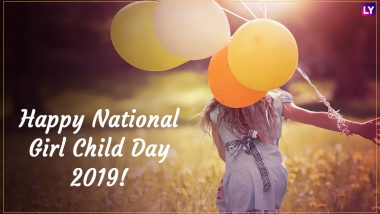 National Girl Child Day 2019 Wishes: WhatsApp Stickers, Facebook Quotes, GIF Image Messages to Highlight the Importance of Girl Child