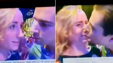 New Year's Eve 2019 Midnight Kiss Video Goes Viral: Dutch Man's Awkward Attempt to Get Kissed Irks Twitter