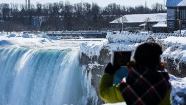 Niagara Falls Freezes! Check Out Mesmerising Photos And Videos of the Icy Waterfall on US And Canada Border
