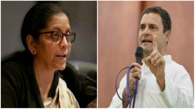 Nirmala Sitharaman Rebuts Rahul Gandhi in Lok Sabha, Says Contracts Worth Rs 26,570 Crore Signed With HAL, Calls Doubts Raised on Her 'Misleading'