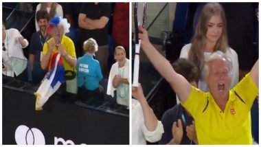 Novak Djokovic Gives Away Racket to a Fan After Beating Rafael Nadal to Win Australian Open 2019, Watch Video