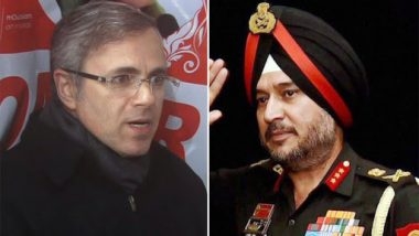 Omar Abdullah 'Differs' With Northern Army Command Chief Lt Gen Ranbir Singh Over 'Celebrating' Terror Crackdown in Kashmir