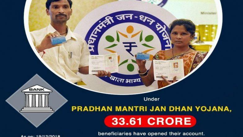 33.61 Crore Bank Accounts Opened Under Pradhan Mantri Jan-Dhan Yojana