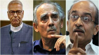 Rafale Deal: Yashwant Sinha, Arun Shourie and Prashant Bhushan Move Supreme Court for Review of Rafale Judgment