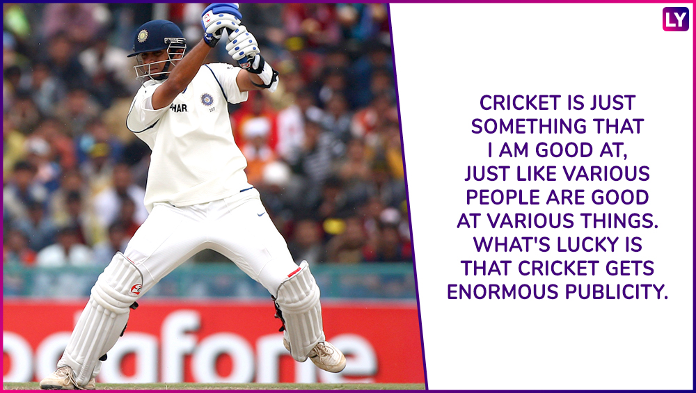 Rahul Dravid Turns 46 Seven Quotes By The Ultimate Gentleman Of