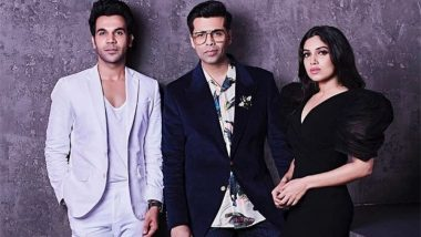 Koffee With Karan 6: From Mouthing 'Vicky Please' to Making Karan Johar Sit on the Couch, Rajkummar Rao and Bhumi Pednekar Are Ready to Take on the Episode! (Watch Video)