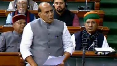 Citizenship Amendment Bill Debate: Govt Committed Towards NRC But Can't Give Citizenship to Illegal Migrants, Says Rajnath Singh in Lok Sabha