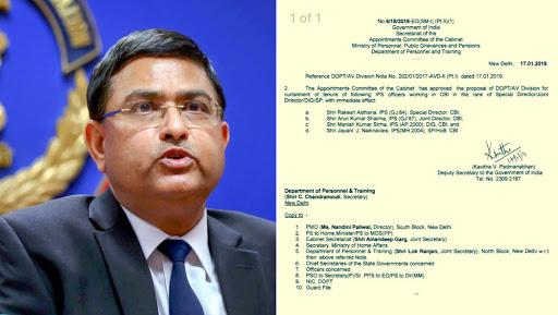 Rakesh Asthana's CBI Tenure Curtailed, Moved to Aviation Security