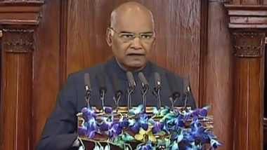 Budget Session 2019: President Ram Nath Kovind Hails Narendra Modi Govt's Schemes in His Parliamentary Speech, Says NDA Strengthened the Poor People of Nation