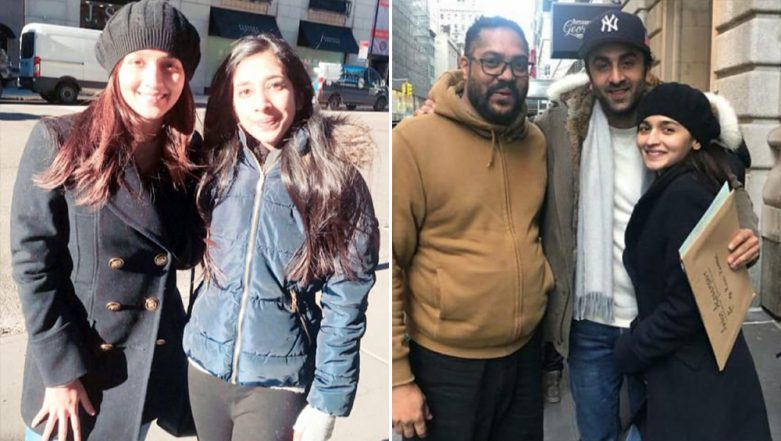 Ranbir Kapoor and Alia Bhatt Look Cute As They Humbly Pose With Fans in New York City (View Pics)