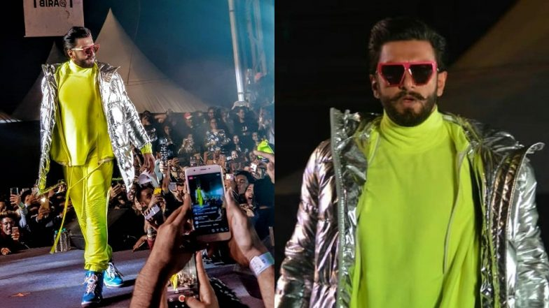 Ranveer Singh's Statement Neon Track Suit At The Gully Boy Music Launch Had The Best Accessory *Hint* It's Flashy!
