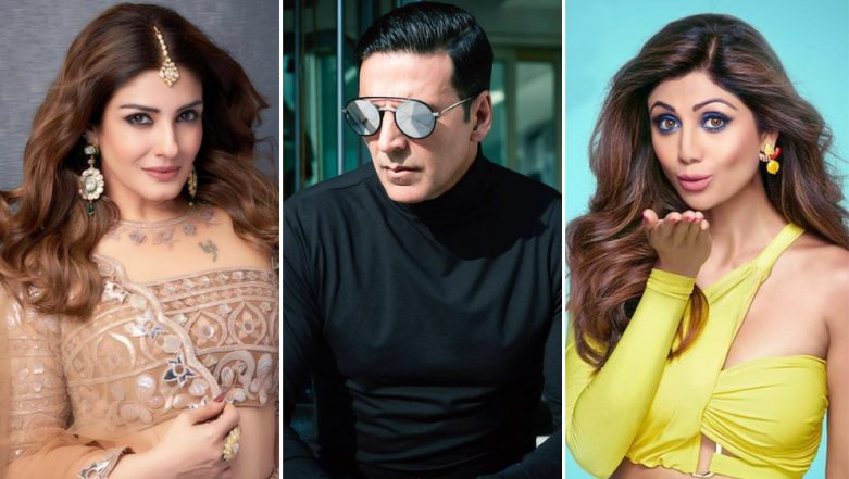 Umang 2019: Akshay Kumar's Ex Girlfriends Raveena Tandon and Shilpa Shetty Bumped Into Each Other and Here's What Happened Next! (View Pic)