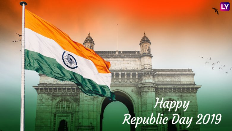 Republic Day 2019 Images & HD Wallpapers for Free Download Online: Wish Happy Republic Day With Patriotic GIF Greetings & WhatsApp Sticker Messages on 26th January