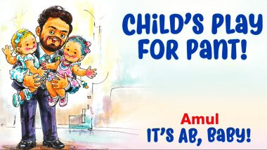 Amul's Latest Ad Shows Rishabh Pant As Tim Paine's Babysitter: Watch Hilarious Pic!
