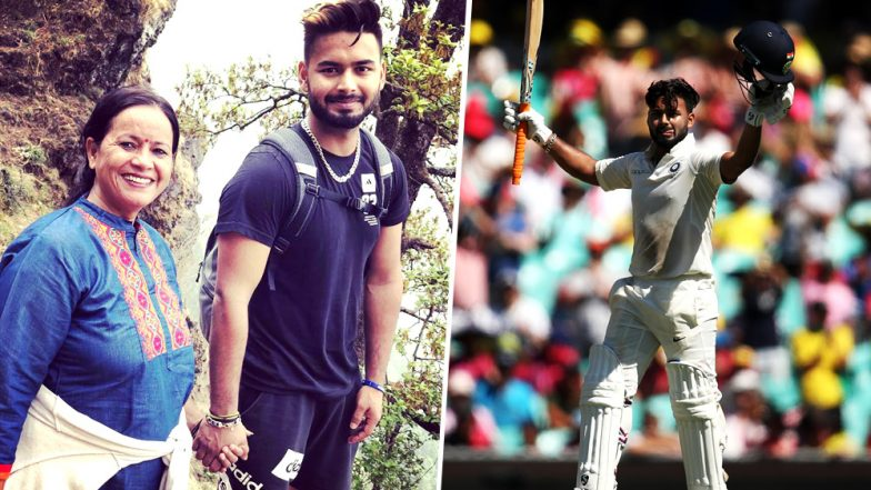 Rishabh Pant Wishes, 'Love You Mom', Celebrating Her Birthday on Twitter After Scoring a Record Century in 2019 Sydney Test