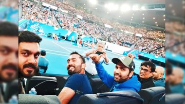 Rohit Sharma Pumped Up at Australian Open 2019! Indian Vice-Captain Shares a Selfie on Instagram With Dinesh Karthik & Vijay Shankar: View Latest Pic