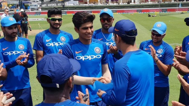 Shubman Gill Makes Debut, Handed Team India Cap by MS Dhoni Ahead of IND vs NZ 4th ODI