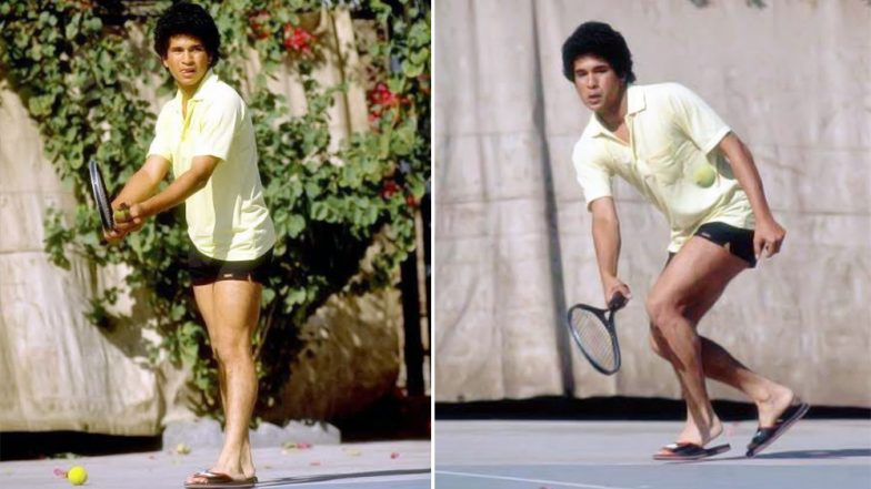 Sachin Tendulkar Is The Perfect Inspiration With This #ThrowbackThursday Pic, Says Nothing Stops Him From Playing Sports