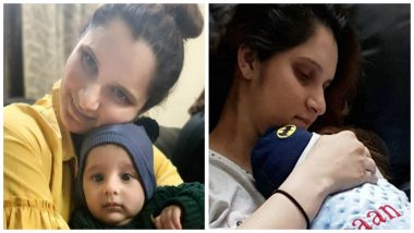 Sania Mirza Shares Pic With Son Izhaan, Says 'He Loves the Camera and TV' After Watching Shoaib Malik Led Pakistan Win Against South Africa in 4th ODI at Wanderers