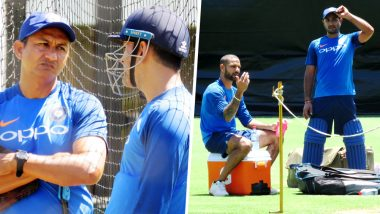 MS Dhoni, Shikhar Dhawan, and Ambati Rayudu Sweat it Out in Nets Ahead of India vs Australia 1st ODI in Sydney: View Pictures