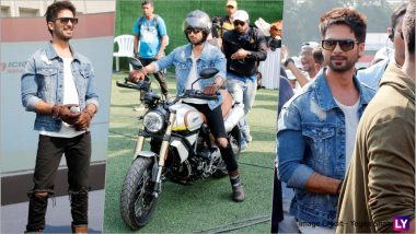 Shahid Kapoor Witnesses a Guinness World Record to Raise Awareness on Road Safety Measures (See HD Pics)