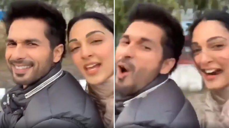 Shahid Kapoor And Kiara Advani Take Selfie Video While Driving Helmet Less Fans Ask