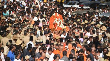 Shivakumara Swamiji Laid to Rest With Full State Honours in Karnataka's Tumakaru; Thousands Attend Funeral of Siddaganga Mutt Seer