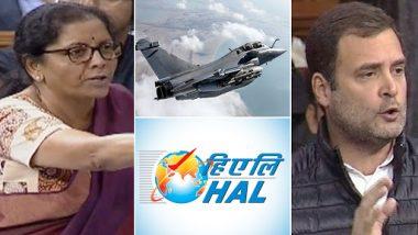 Nirmala Sitharaman Slams Rahul Gandhi in Lok Sabha Over Rafale Deal, Says 'Congress is Shedding Crocodile Tears For HAL'