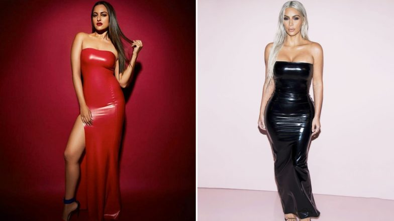 Sonakshi Sinha Takes Inspiration From Kim Kardashian's Latex Dress, But Does She Nail it Better Than The Reality Star?