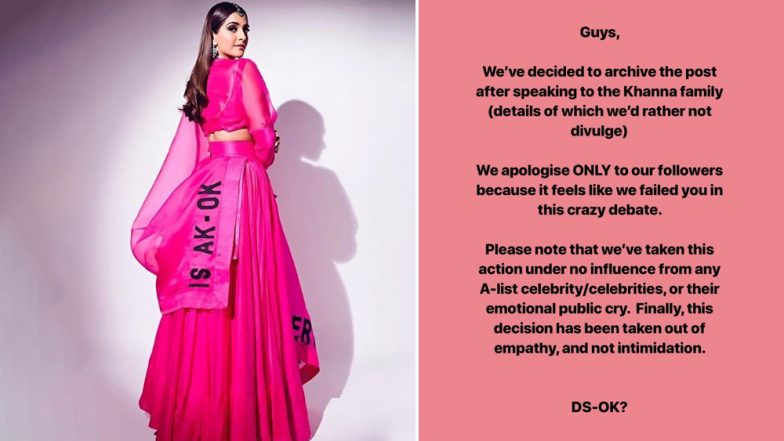 Sonam Kapoor Makes Diet Sabya APOLOGIZE for Taking a Dig at Her Anamika Khanna Outfit