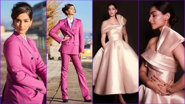 Sonam Kapoor in Calvin Klein Pantsuit and Mark Bumgarner Dress Is Every Fashion Lover's Dream (See Pics)