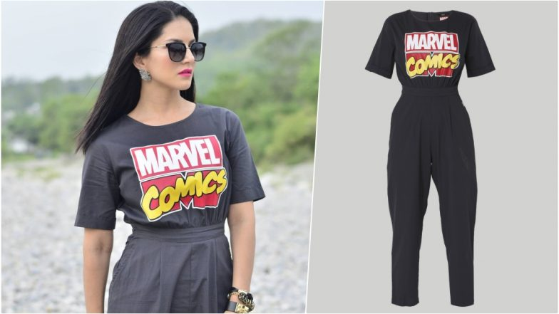 Sunny Leone Wears the Coolest 'Marvel Comics' Jumpsuit That You Would Want to Steal From Her Wardrobe (See Pic)
