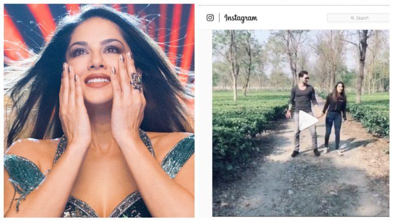 Sunny Leone and Daniel Weber Happy-Dance on Ranveer's Aankh Maare as Actress Celebrates 18 Million Followers on Instagram (Watch Video)