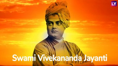 Swami Vivekananda Jayanti Images & HD Wallpapers for Free Download Online: Wish Happy National Youth Day 2019 With Beautiful GIF Greetings & WhatsApp Sticker Messages