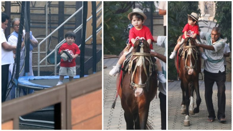 Taimur Ali Khan Spent Sunday Enjoying His Horse-Riding Lessons, What About You? (View Pics and Videos)