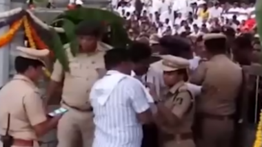 Karnataka: JD(S) Minister SR Mahesh's Foul Remark Leaves Tumakuru SP Divya Gopinath in Tears; Watch Video
