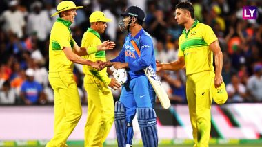 Live Cricket Streaming of India vs Australia Gillette ODI Series 2019 on SonyLIV: Check Live Cricket Score, Watch Free Telecast Details of IND vs AUS 3rd ODI Match on TV & Online