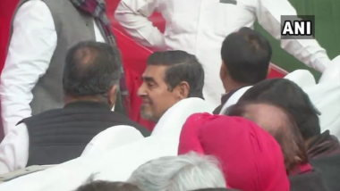 Jagdish Tytler at Front Seat of Congress Event: SAD Leader Manjinder Singh Sirsa Says Party 'Intimidating' 1984 Anti-Sikh Riots Case Witnesses