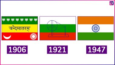 Republic Day 2019 Celebrations: Evolution of the Indian National Flag Tiranga From 1906 to 1947 (Watch Video)