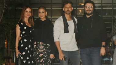 Hrithik Roshan Celebrates His 45th Birthday With Ex Wife Sussanne Besties Sonali Bendre
