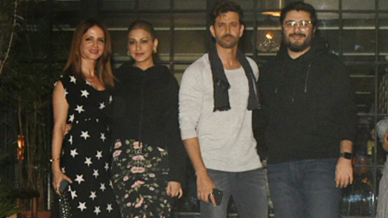 Hrithik Roshan Celebrates His 45th Birthday With Ex-wife Sussanne & Besties Sonali Bendre, Goldie Behl! View Pics